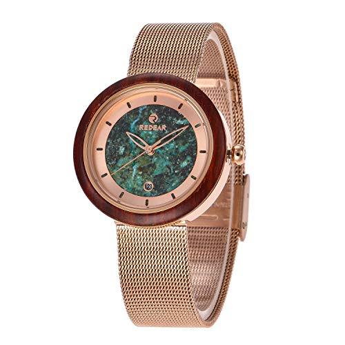 Orologio da uomo Reloj de Madera Hecho de sándalo Precioso y Turquesa, Reloj Deportivo de Cuarzo for Negocios, Saludable, trae Buena Suerte, Romance, for un Socio