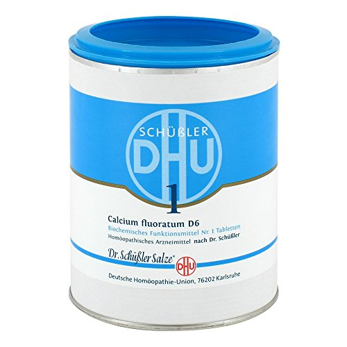 DHU Schüßler-Salz Nr. 1 Calcium fluoratum D6 Tabletten, 1000 St. Tabletten