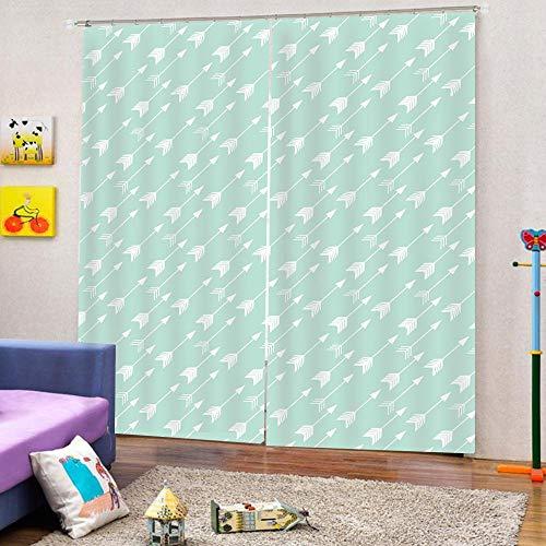 3D Isolierung Schattierung Vorhänge Blauer Pfeil 2 Panel fit Kinder Vorhänge Für Wohnzimmer Schlafzimmer Blackout Kinderzimmer Vorhänge 220x215cm