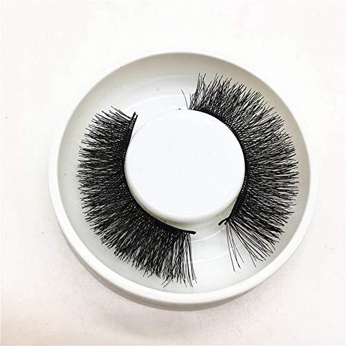 Surobayuusaku Magnetic Eye Lashes Glue Free Reusable False Magnet Eyelashes Thick Extension Fake Eye Lashes for Women Makeup