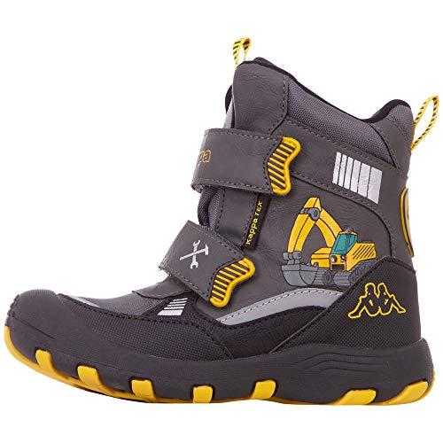 Kappa Jungen Unisex Kinder Road TEX Klassische Stiefel, 1640 Grey/Yellow, 29 EU