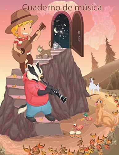 cuaderno de música para niños: nuevo lenguaje musical / libreta pentagramas musica /ESCRIBIR NOTAS MUSICALES /Cuaderno de pentagramas para escribir ... solo musica/AÑO NUEVO DE MÚSICA/ NAVIDAD