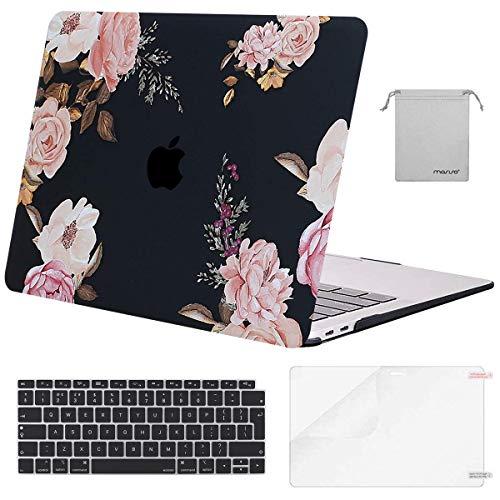 MOSISO Hülle Kompatibel mit 2020 2019 2018 MacBook Air 13 A2337 M1 A2179 A1932,Plastik KofferundTastaturschutzundBildschirmschutzundLagertasche Kompatibel mit Mac Air 13,Rosa Pfingstrose