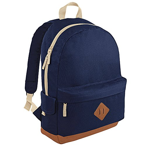 BagBase Heritage Rucksack One Size,French Navy