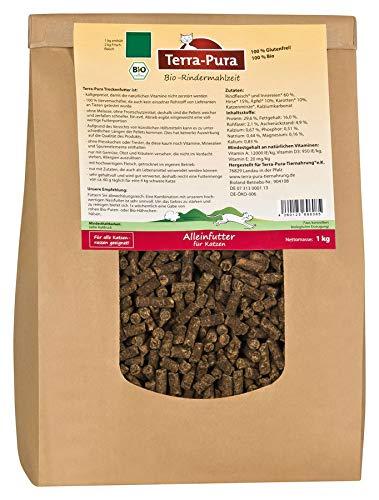 Terra Pura Bio-Katzentrockenfutter Rindermahlzeit, 10er Pack (10 x 1000 g)