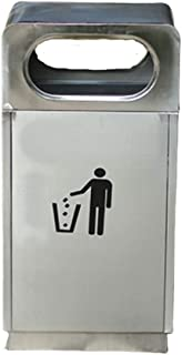 JHEY Outdoor Dustbins Stainless Steel Trash Can Trash Can Bins Sanitation Category Large Storage Rubbish Bins Garbage Waste Wastepaper Bins Multicolor Optional