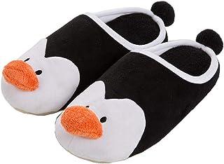 maiqu1983 Mâle Automne et Hiver Pingouin Coton Pantoufles Chaussons Les Chaussures Garder au Chaud Mignon Dessin animé