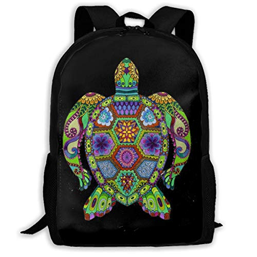 TRFashion Sac à Dos Trippy Ocean Turtle Fashion Outdoor Shoulders Bag Durable Travel Camping for Kids Backpacks