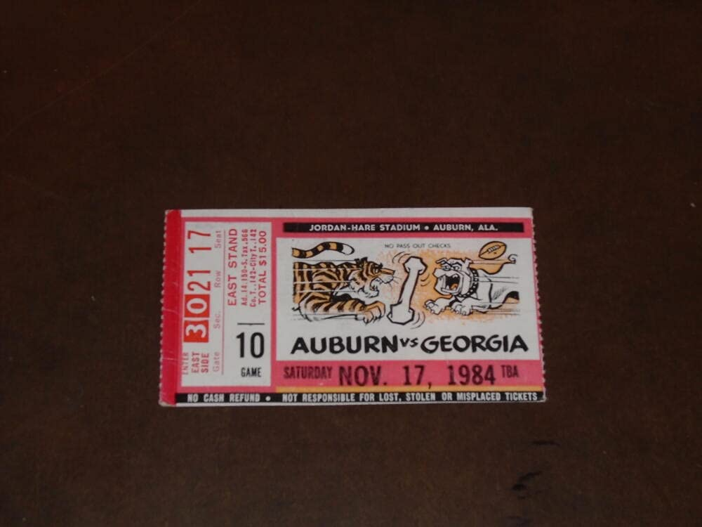 1984 GEORGIA AT AUBURN FOOTBALL BO TICKET Cheap super special price STUB Manufacturer direct delivery JACKSON
