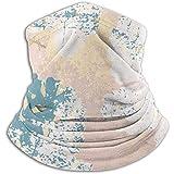 Linger In Bufanda para el Cuello Chic Blush Rosa Oro Mármol de Moda Grunge Textura Pasamontañas Máscara de esquí Más cálido Invierno Abrigo para la Cabeza