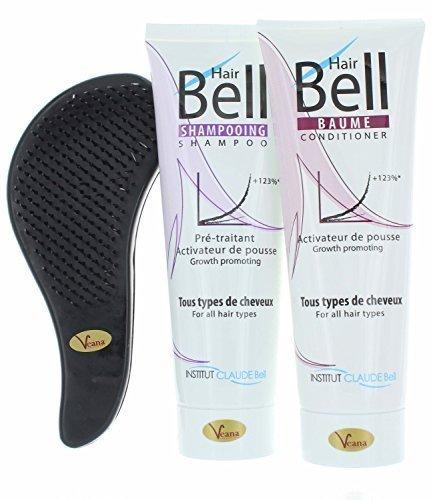 Veana HairBell Shampoo + conditioner + detangler (groen) – haargroeiversneller Hair Plus, haargroei versnellen, haarshampoo voor haargroei, anti-haaruitval, tegen haaruitval
