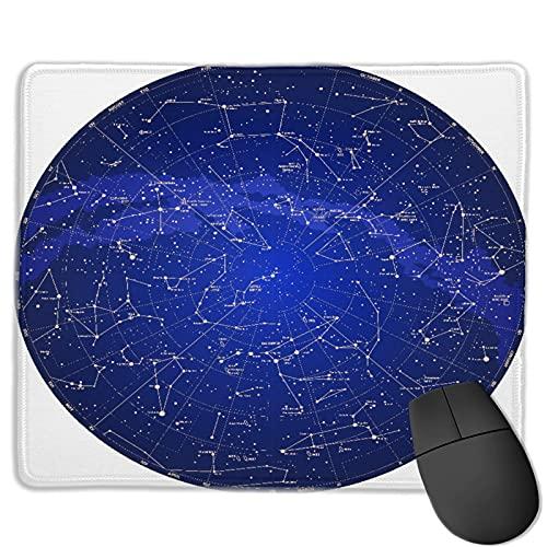BohoMonos Tapis de Souris de Bureau personnalisé,Constellation Haut détaillé Sky Map de l