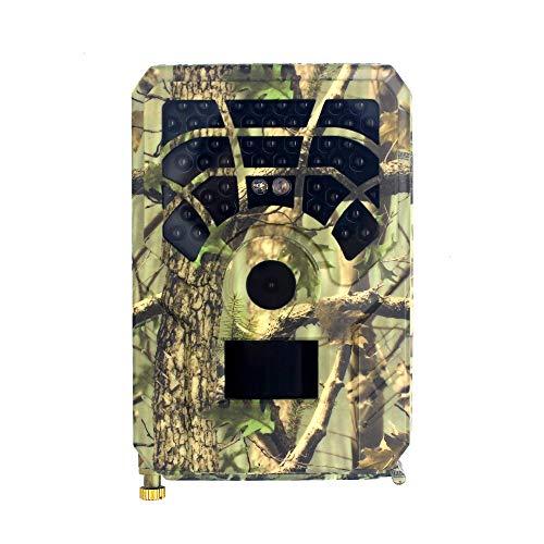SIWEI Wildkamera mit Bewegungsmelder Nachtsicht, 12MP 1080P Bewegungsaktiviert Wasserdichter Überwachungskamera mit 2.4 LCD Display,120°Weitwinkel Nachtsichtkamera