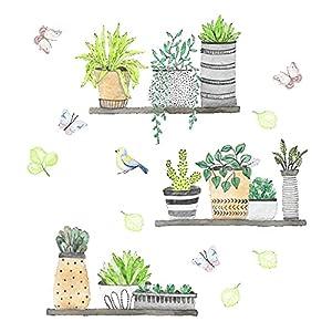 Mox Pegatinas Decorativas Pegatinas de Pared de Planta Adhesivos Pared Para Dormitorio Sala de Estar Cuarto de los Niños, Arte de Bricolaje Hogar Pegatina Mural (30*90cm)