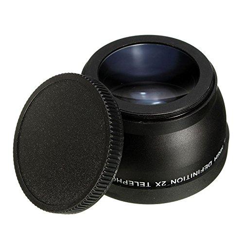 ILS - Objetivo teleobjetivo para Canon EOS Nikon Pentax DSLR (58 mm, 2 Unidades)