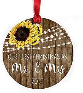 Blue Lion Design Shop Our First Christmas as Mr & Mrs Ornament 2019