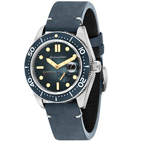 SPINNAKER Men's Croft 43mm Leather Band Steel Case Automatic Watch SP-5058-01