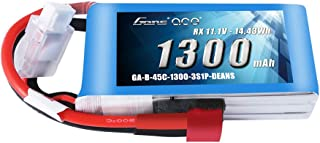 Gens ace 11.1V 1300mAh 3S 45C LiPo Battery Pack with Deans Plug for RC Plane Heli Airplane FPV