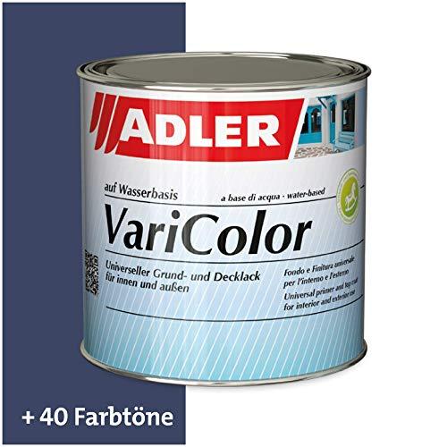 ADLER Varicolor 2in1 Acryl Buntlack für Innen und Außen - 375 ml RAL5013 Kobaltblau Blau - Wetterfester Lack und Grundierung für Holz, Metall & Kunststoff - Seidenmatt