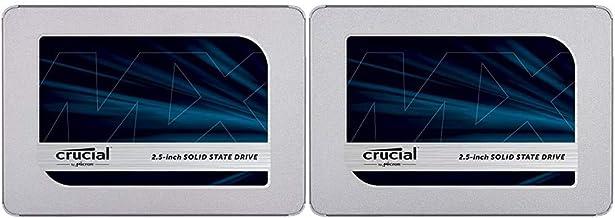 Crucial MX500 1TB 3D NAND SATA 2.5 Inch Internal SSD, up to 560MB/s - CT1000MX500SSD1 & MX500 500GB 3D NAND SATA 2.5 Inch ...