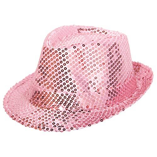 Folat 22536 Tribly Chapeau de fête Deluxe avec Sequins, Mixte Adulte, magenta, taille unique