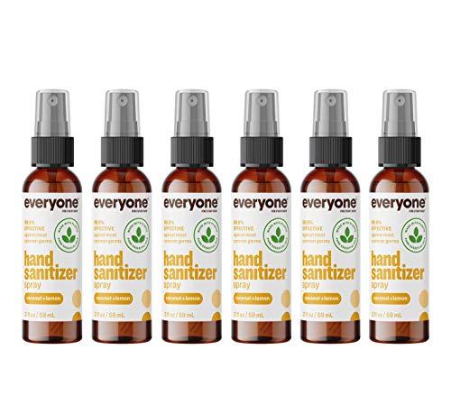 Everyone Hand Sanitizer Spray: Coconut and Lemon, Travel...