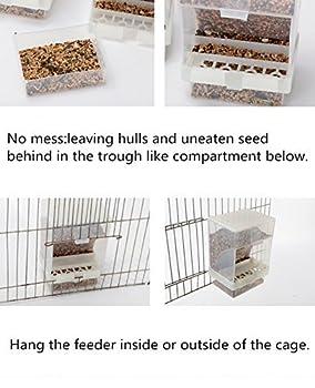 Hypeety Mangeoire automatique pour oiseaux - Sans désordre - Pour oiseaux et oiseaux