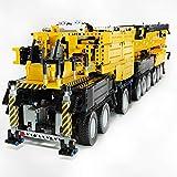 WEERUN Technic Liebherr LTM 11200 Grúa, 1:20 2.4G RC Grúa Móvil Grua Todo Terreno con 12 Motores y Control Remoto, 7068 Piezas Bloques - Compatible con Lego Technic