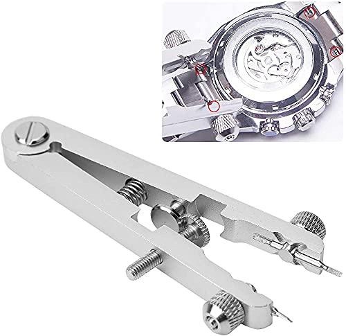 Alicates de barra de resorte con pasadores 6825 Herramienta de extracción de bandas Kit de pinzas Herramienta de reparación de reloj de repuesto Herramienta de alicates de barra de resorte para r