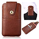 Premium Vertical Genuine Leather Holster with Belt Loop,for iPhone SE 2020,11 Pro,XS,X,8,7,6s,for Samsung Galaxy s10e,S7 6 4 3 /S6 Edge,A2 Core