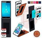 Hülle für Ulefone Paris X Tasche Cover Hülle Bumper | Braun Leder | Testsieger
