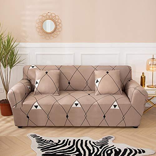 PPMP Fundas de sofá elásticas Antideslizantes para Sala de Estar Funda de sofá seccional de Esquina en Forma de L Funda de sillón A6 1 Plaza