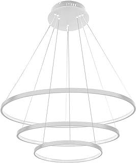 Huahan Haituo lampa wisząca LED salon trzy pierścienie nowoczesny dom sufit oprawa oświetleniowa podtynkowa oświetlenie bi...