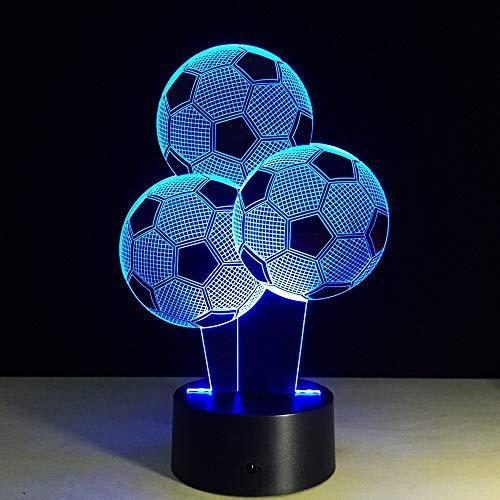 Luz de noche 3D Led árbol globo de fútbol lámpara 3D 7 colores cambiantes lámpara de escritorio de mesa Usb para niños regalo de vacaciones