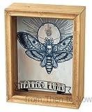 Gerahmte Geldbox mit Sichtfenster Panel von Tattoo Fund
