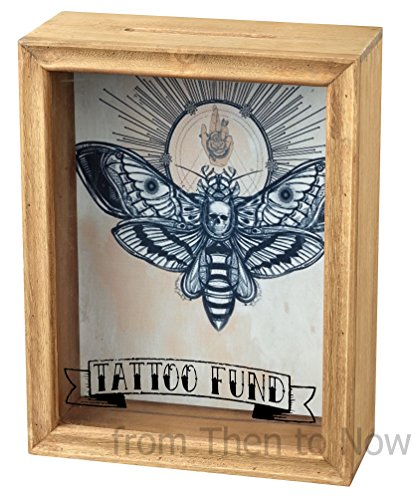 Gerahmte Geldbox mit Sichtfenster Panel von Tattoo Fund