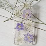 Samsung Galaxy S6 Edge Coque Floral S6 Edge Coque de Téléphone Véritable Fleur Etui Samsung S6...