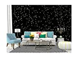 Self Adhesive Wallpaper Roll Paper Monochrome seamless of cosmic space with stars on night starry sky Removable Peel and Stick Wallpaper Decorative Wall Mural Posters Home Covering Interior Film