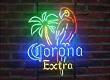 Desung New 20'x16' CORONA PARROT EXTRA PALM TREE Neon Sign Man Cave Signs Sports Bar Pub Beer Neon Lights Lamp Glass Neon Light KC08