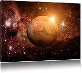 La planète Mars dans l'univers Photo sur Toile | Taille: 60x40 cm | Peinture Murale | Art Print | prêt Couvert