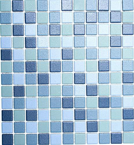 MOS18-0404-R10_f - Azulejos de mosaico para piscina, taza de ducha, suelo antideslizante, color azul y turquesa