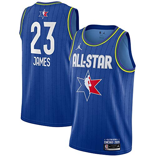 Outerstuff NBA Youth 8-20 All Star 2020 Blue Youth Swingman Player Jersey (Lebron James, 10-12)