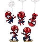 YUNNING Juguetes Vengadores 5pcs / Set Figura Coleccionable Modelo Juguete Mini Spiderman Coche Decoración Muñeca