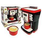 TikTakToo Kaffeemaschine für Kinder Espressomaschine Kaffeeautomat mit Licht & Sound, echten...