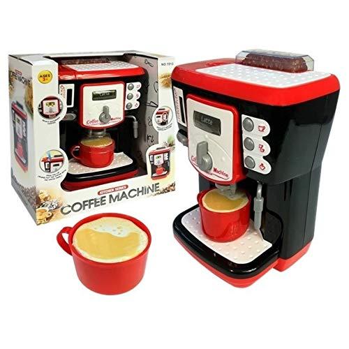 TikTakToo Kaffeemaschine für Kinder Espressomaschine Kaffeeautomat mit Licht & Sound, echten Wasserdurchlauf, Zubehör Kinderküche Spielküche Spielzeug