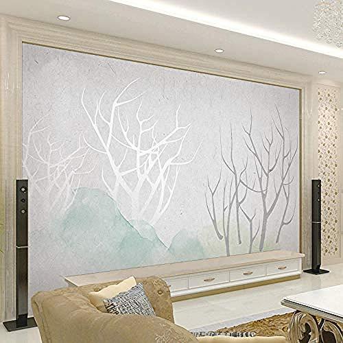 TV Fondo Wall_TV Fondo Pared Estilo nórdico Papel pintado Moderno Minimalista Pintado a mano Sofá Película Par papel pintado pared dormitorio de estar sala de estar fondo No tejido-400cm×280cm