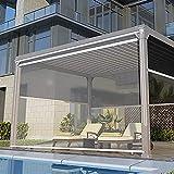Persiana Enrollable Patio Al Aire Libre Gazebo Balcón Pergola Cortinas Enrollables Transparentes, Impermeable PVC Grande Persianas Enrollables Exteriores Con Accesorios, 85cm / 105cm / 125cm / 145cm /