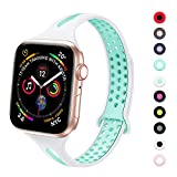 YAXIN Watch Strap Compatible with Apple Watch Band 40mm Series 5 38mm Series 3 for Women Men, Stylish Light&Thin Breathable Silicone Replacement Wrist Band Sport Compatible for iWatch Series 5 4 3 2 1