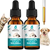 BOOST HEALTH: MaxHemp pet hemp oil with maximum value 500,000 MG hemp oil for pets discomfort. It helps little puppy adapt new environment fast, and soothe stiff joints for older pets. Effectively support dogs and cats health and calming. Same price ...