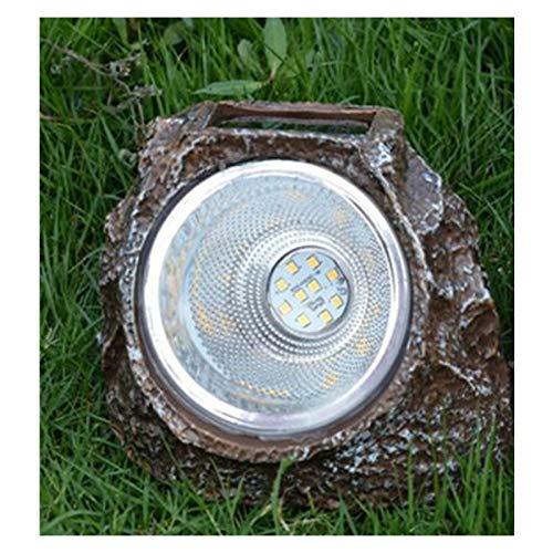 MHSHCQ Gartenleuchten Solar Wasserdicht IP68 Steinform ABS-Schale LED Solarleuchten Dekorativ Für Garden Yard Pathway Rasen